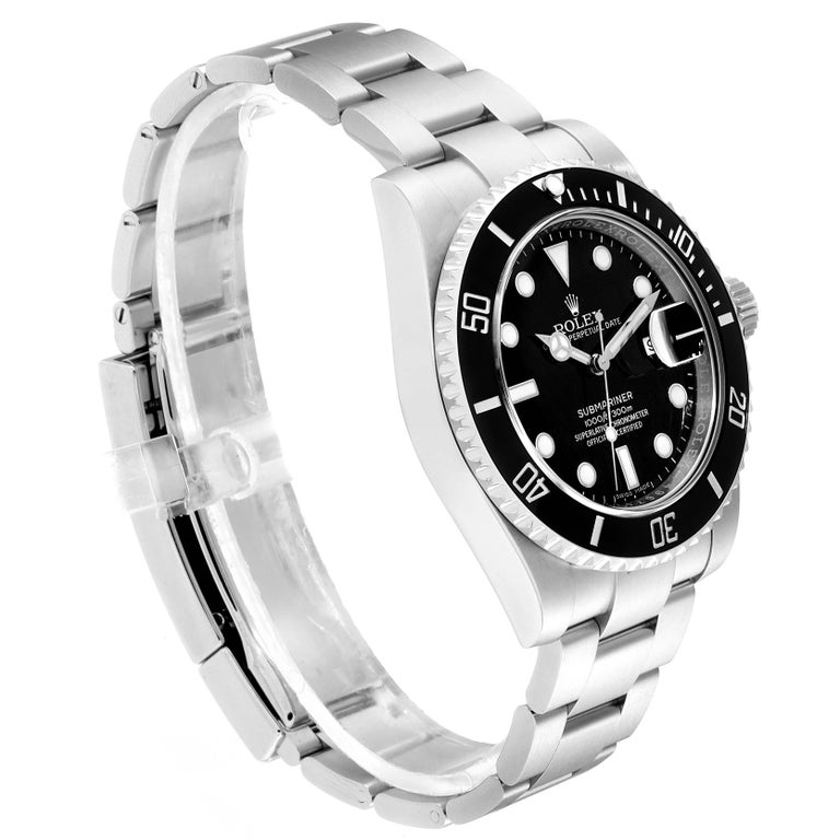 Rolex Submariner Ceramic Bezel Black Dial Steel Men's Watch 116610 In Excellent Condition For Sale In Atlanta, GA