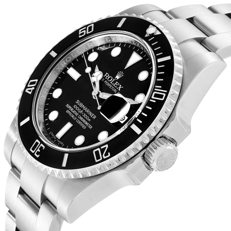 Rolex Submariner Ceramic Bezel Black Dial Steel Men's Watch 116610 For Sale 2