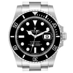 Rolex Submariner Ceramic Bezel Black Dial Steel Men's Watch 116610