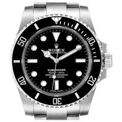 Rolex Submariner Ceramic Bezel Steel Watch 114060 Box Card