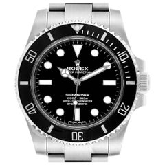 Rolex Submariner Ceramic Bezel Steel Watch 114060 Box Card