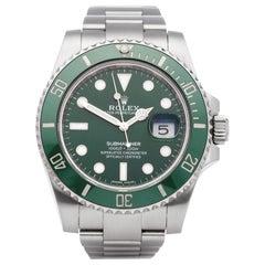Rolex Submariner Date 116610LV Men's Stainless Steel 'Hulk' Watch