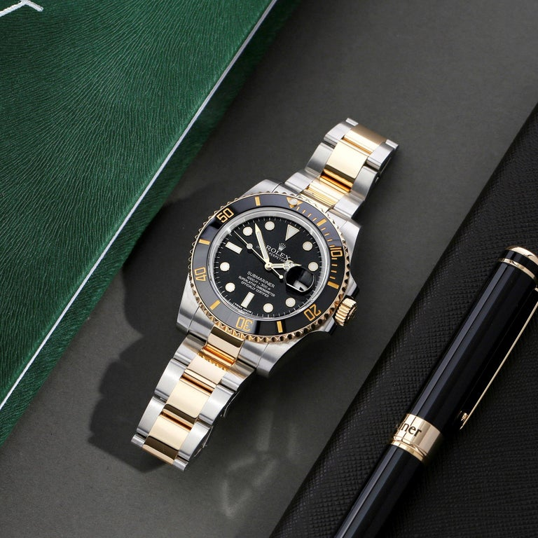 Rolex Submariner Date 116613 Men's Yellow Gold & Stainless Steel 0 Watch For Sale 7