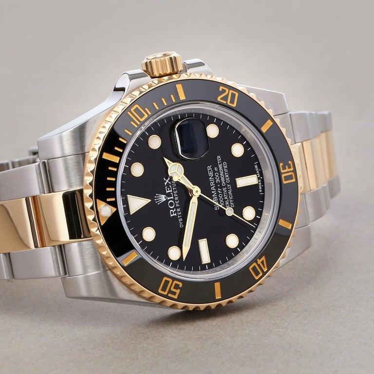 Rolex Submariner Date 116613 Men's Yellow Gold & Stainless Steel 0 Watch In Good Condition For Sale In Bishops Stortford, Hertfordshire