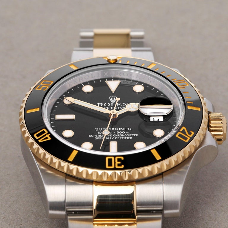 Rolex Submariner Date 116613 Men's Yellow Gold & Stainless Steel 0 Watch For Sale 3
