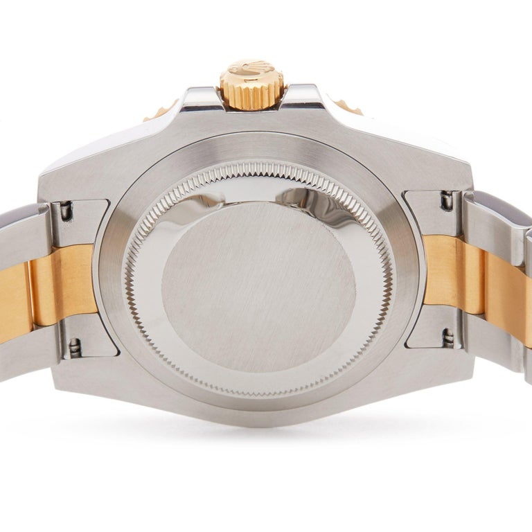 Rolex Submariner Date 116613LB Men's Stainless Steel and Yellow Gold Watch For Sale 3