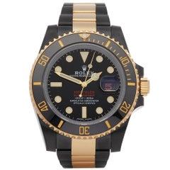 Rolex Submariner Date 116613LN Men DLC Stainless Steel & Yellow Gold Hercules Wa