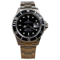 Rolex Submariner Date 16610 Black Dial Stainless Steel Box Papers, 2005