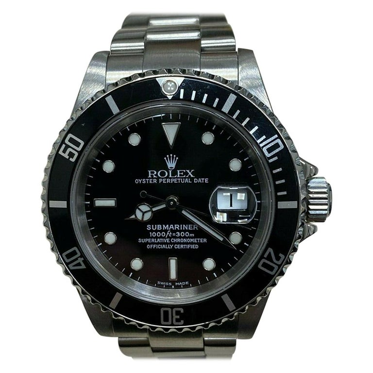 Rolex Submariner Date 16610 Black Dial Stainless Steel For Sale