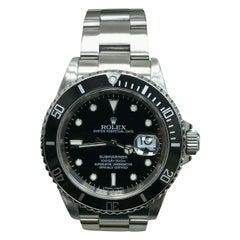 Rolex Submariner Date 16610 Black Dial Stainless Steel Rehaut, 2008