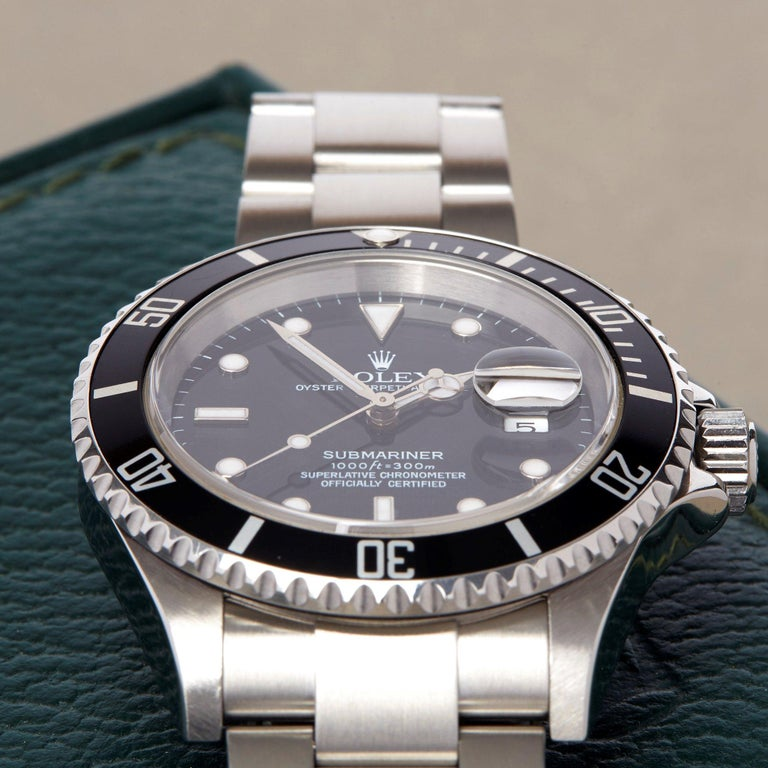 Rolex Submariner Date 16610 Men's Stainless Steel Watch For Sale 1