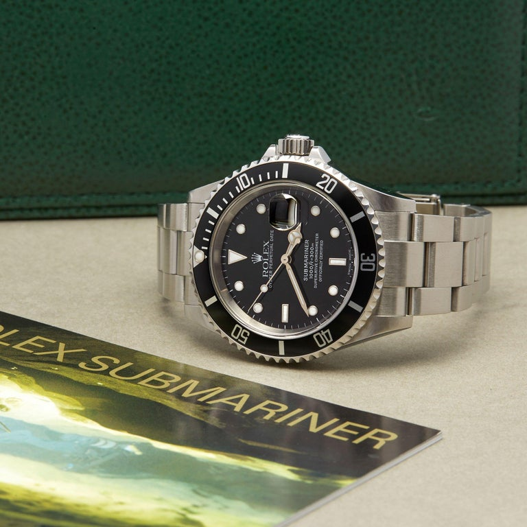 Rolex Submariner Date 16610 Men's Stainless Steel Watch For Sale 6