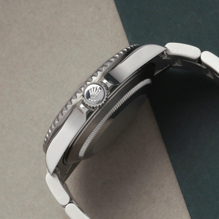 Rolex Submariner Date 16610LV Men's Stainless Steel Kermit' Watch For Sale 1