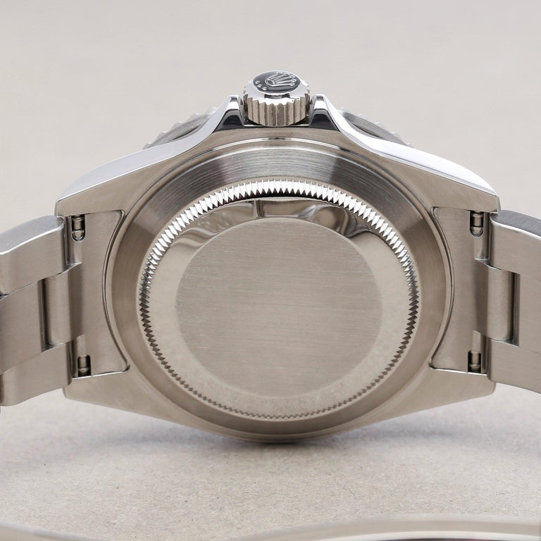 Rolex Submariner Date 16610LV Men's Stainless Steel Kermit' Watch For Sale 4