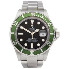 Rolex Submariner Date 16610LV Men's Stainless Steel Kermit Watch