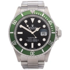 Rolex Submariner Date 16610LV Men's Stainless Steel Random Serial and Engraved