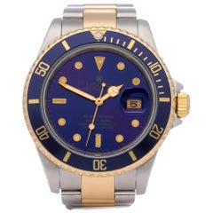 Rolex Submariner Date 16613 Men's Stainless Steel and Yellow Gold Purple Watch