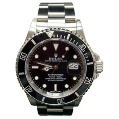 Rolex Submariner Date 168000 Transitional Triple Zero 1986 Box & Service Papers