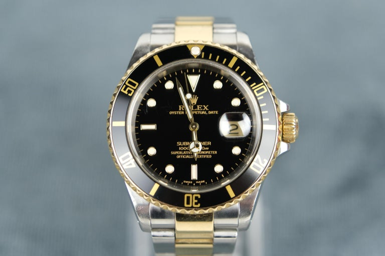 Rolex Submariner Date in 18K Gold and Steel.  Selling this watch is going to be difficult. I did purchase it to resell but then stupidly, I put it on. It fit perfectly and well, it is a Rolex Submariner so I should not have put it on. It was