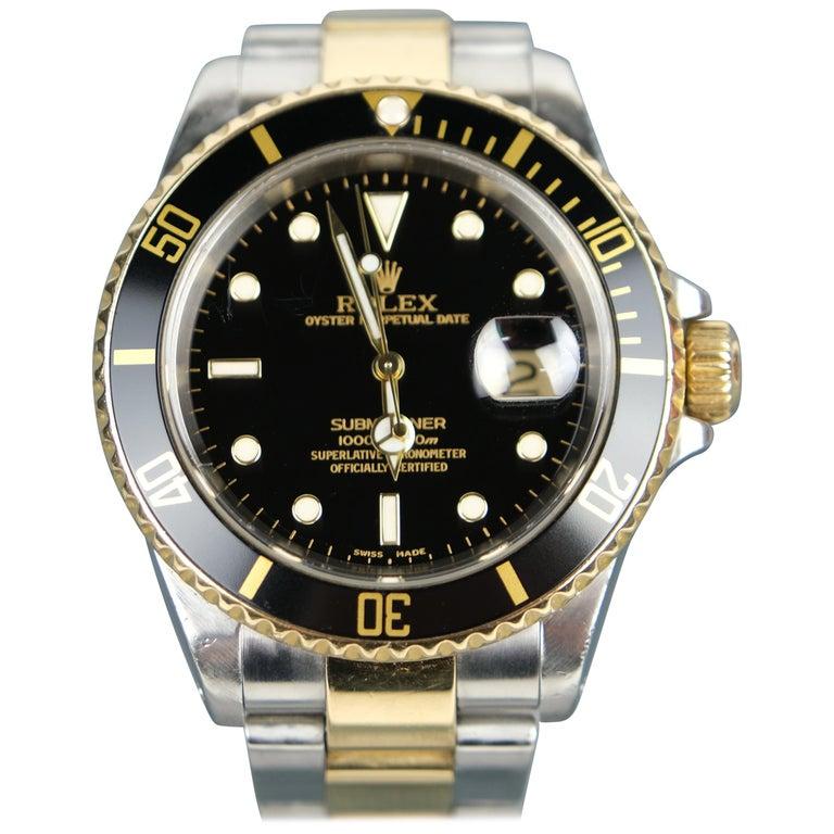 Rolex Submariner Date 18 Karat Gold For Sale