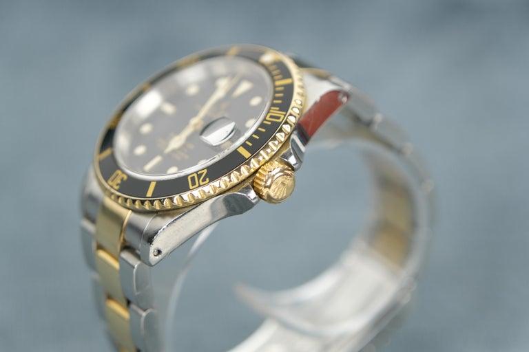 Men's Rolex Submariner Date 18 Karat Gold For Sale