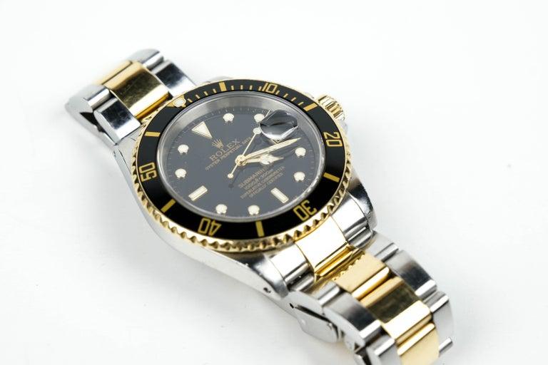 Rolex Submariner Date 18 Karat Gold For Sale 5