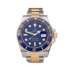 Rolex Submariner Date 18k Stainless Steel and Yellow Gold 116613LB Wristwatch