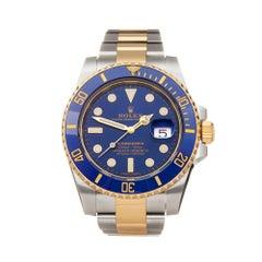 Rolex Submariner Date 18 Karat Stainless Steel and Gold 116613LB Wristwatch