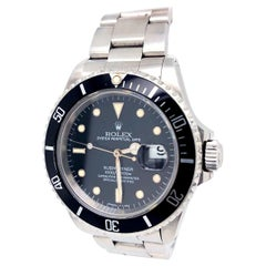 Rolex Submariner Date 40 Black Dial Oyster Stainless Steel Bracelet Watch 16610