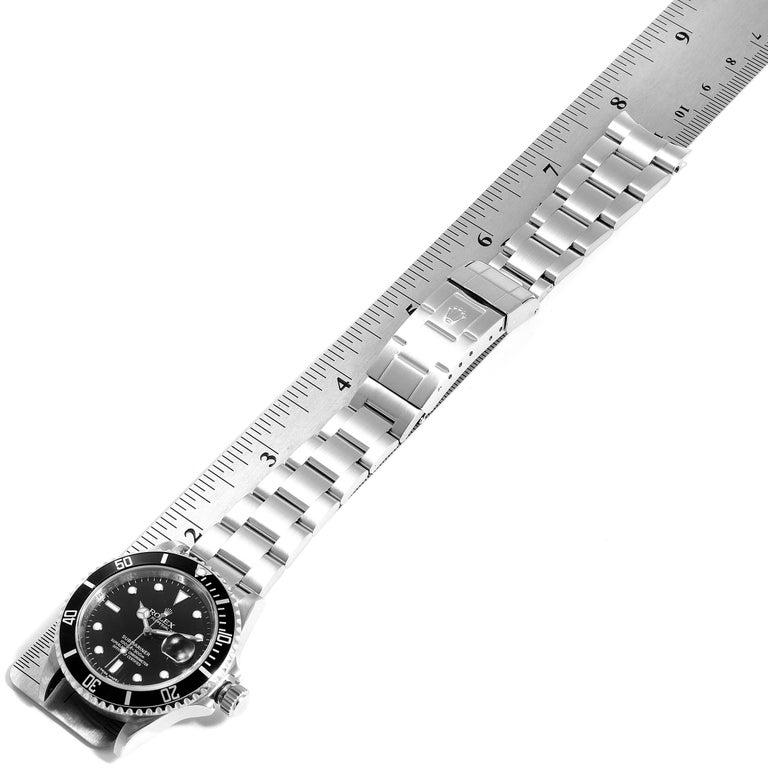 Rolex Submariner Date Stainless Steel Men's Watch 16610 Box Card 7