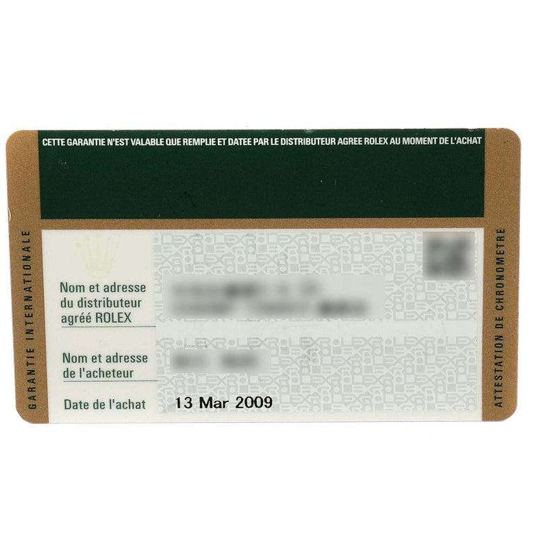 Rolex Submariner Date Stainless Steel Men's Watch 16610 Box Card 9