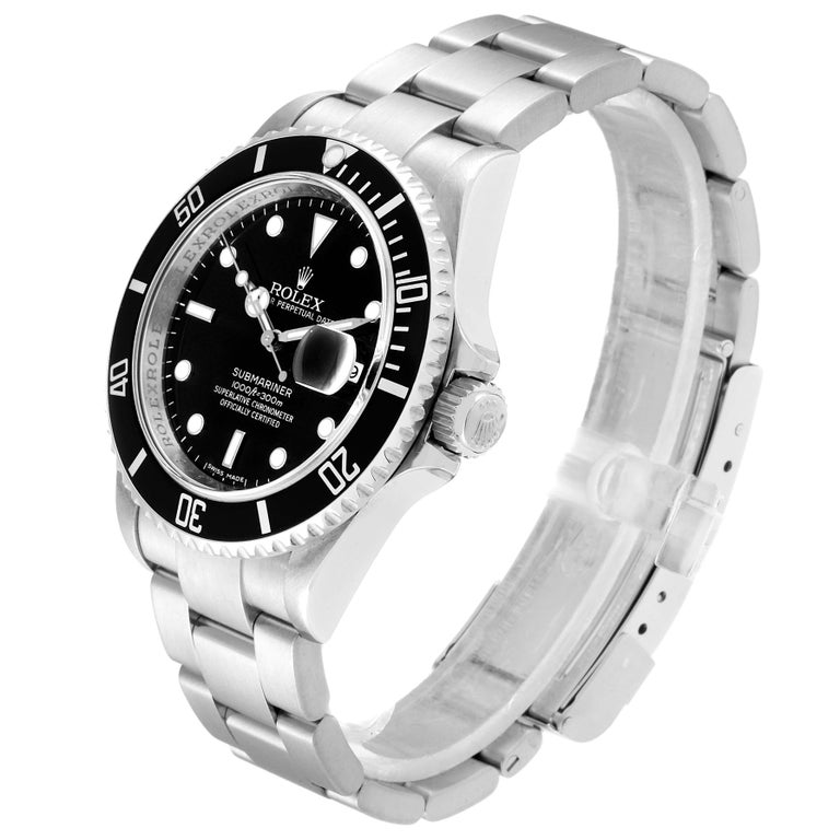 Rolex Submariner Date Stainless Steel Men's Watch 16610 Box Card 1