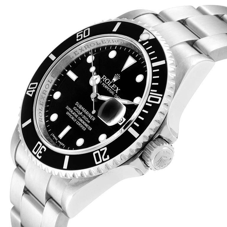 Rolex Submariner Date Stainless Steel Men's Watch 16610 Box Card 2