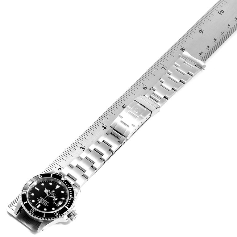 Rolex Submariner Date Stainless Steel Men's Watch 16610 Box Papers For Sale 7