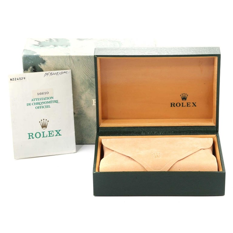 Rolex Submariner Date Stainless Steel Men's Watch 16610 Box Papers For Sale 9
