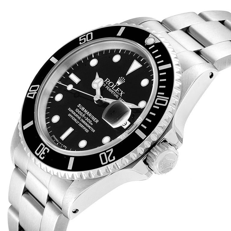 Rolex Submariner Date Stainless Steel Men's Watch 16610 Box Papers For Sale 2