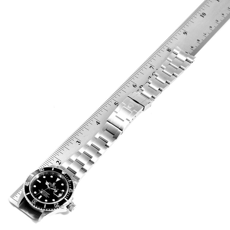 Rolex Submariner Date Stainless Steel Men's Watch 16610 For Sale 7