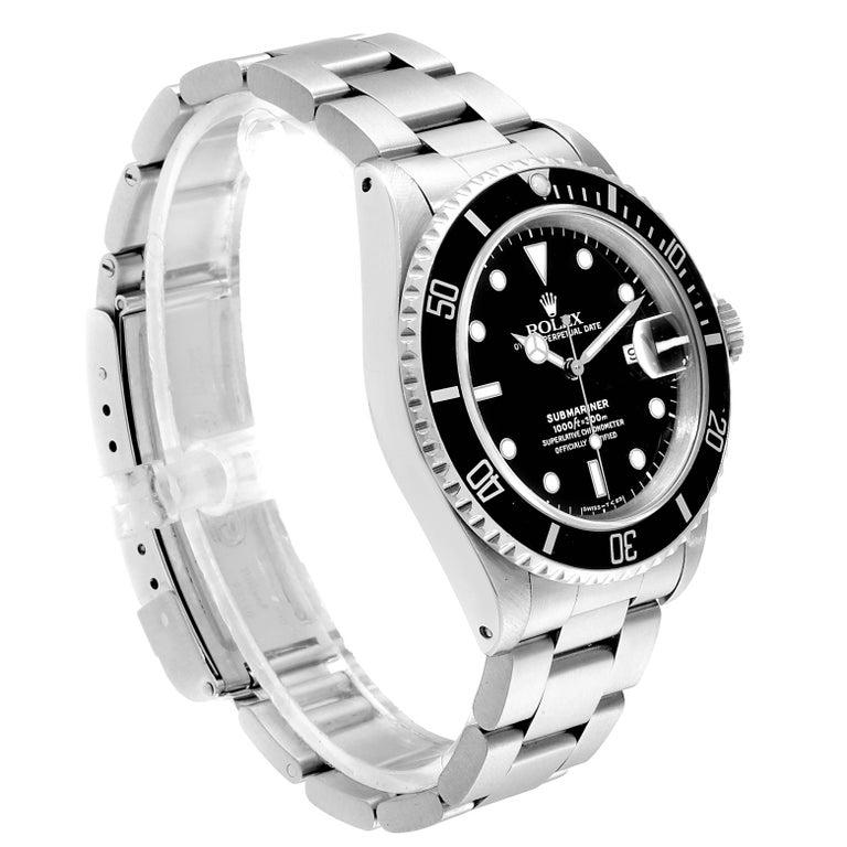 Rolex Submariner Date Stainless Steel Men's Watch 16610 In Good Condition In Atlanta, GA