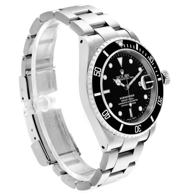 Men's Rolex Submariner Date Stainless Steel Men's Watch 16610