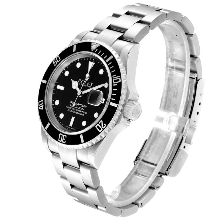 Rolex Submariner Date Stainless Steel Men's Watch 16610 For Sale 1