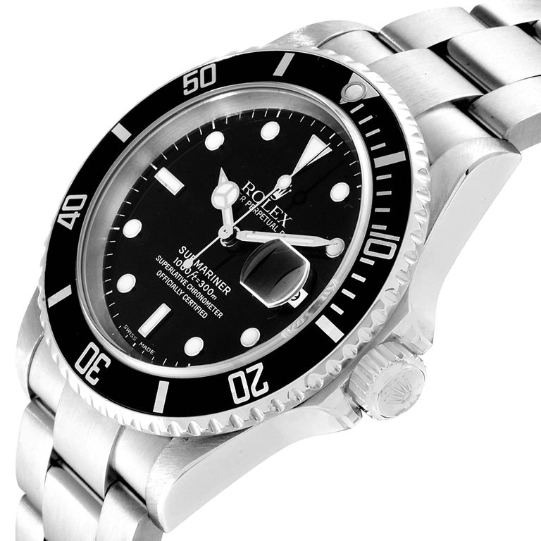 Rolex Submariner Date Stainless Steel Men's Watch 16610 For Sale 2