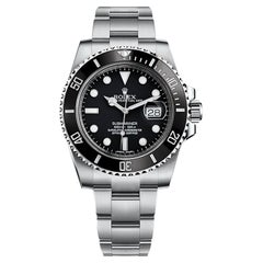 Rolex Submariner Date 41 Black Dial Oyster Stainless Steel Bracelet Watch 16610