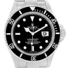 Rolex Submariner Date Black Dial Automatic Men's Watch 16610