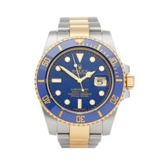 Rolex Submariner Date Diamond Stainless Steel and Yellow Gold 116613LB
