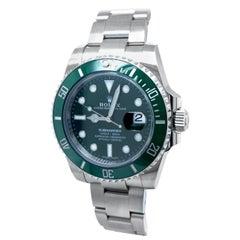 Rolex Submariner Date Hulk Auto Steel Men's Oyster Bracelet Watch 116610LV