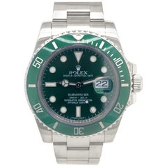 Rolex Submariner Date Hulk Stainless Green Ceramic Men's Watch 116610LV