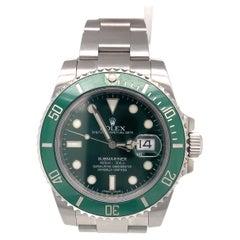 Rolex Submariner Date Hulk Stainless Green Ceramic Men's Watch 116610LV