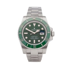 Rolex Submariner Date Hulk Stainless Steel 116610LV Wristwatch