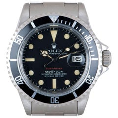 Rolex Submariner Date Red Writing Vintage Stainless Steel Mark V 1680