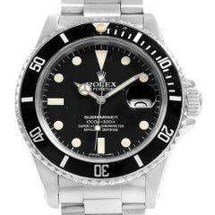 Rolex Submariner Date Stainless Steel Men's Vintage Watch 16800